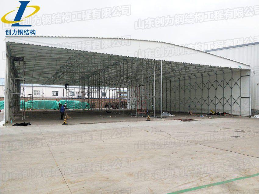 邯郸大型帆布仓库雨棚_抗风工地移动帐篷